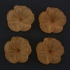 Frosted Acrylic Flower Beads - Orange