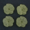 Frosted Acrylic Flower Beads - Yellow