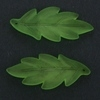 Frosted Acrylic Leaf Pendant - Green
