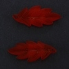 Frosted Acrylic Leaf Pendant - Red