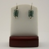 Gray Seed Bead Safety Pin Earrings