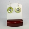 Green Mother of Pearl with Flower Earrings