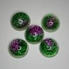 Green and Pink Resin Orbs