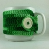 Multi-Green Crochet Coffee Cup Cozie
