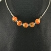 Orange Pumpkin Necklace