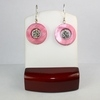 Pink Mother of Pearl with Flower Earrings