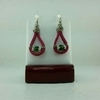 Pink Suede Leather Earrings #1