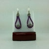 Purple Suede Leather Earrings #2