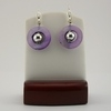 Silver with Purple Mother of Pearl Earrings