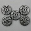 Steampunk Gunmetal Gear Beads