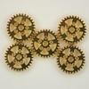 Steampunk Polished Gold Metal Gear Beads
