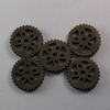 Steampunk Weathered Brass Metal Gear Beads / No Holes