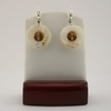 Topaz with White Mother of Pearl Earrings