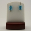 Turquiose Blue Seed Bead Safety Pin Earrings