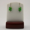 Two Tone Green Seed Bead Safety Pin Earrings