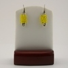 Yellow Seed Bead Safety Pin Earrings
